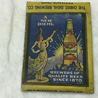Vintage Diehls centennial Perfect Beer Advertising Matchbook Diamond