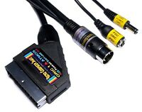 Oric 1 & Atmos High Quality RGB Powered Scart Lead Video Cable TV Lead v2.4