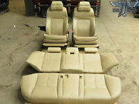 04-07 BMW E60 Complete Front & Rear Comfort Active Seat Cushion Assy Beige OEM