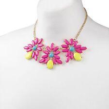 Rosa Floral Joya Collar Cadena de oro muy Grueso Collar Babero | Venta 40% De Descuento