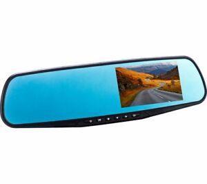 CO-PILOT CPDVR3 Rear View Mirror Dual Dash Cam - Black - Currys