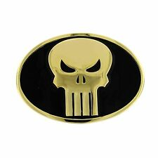 New Marvel Comics Limited Edition Punisher Oval Belt Buckle Black and Gold