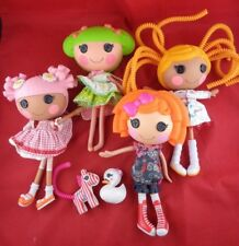 4 Cute Lalaloopsy Dolls with Clothes, Pets, Assessories - Lot of 6