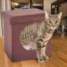 1Warm Kitten Bed Cat Hut With Pet Bed Curious Cat Cube Cat House/Cat Condo pet