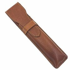 Parker Brown Leather Protective Razor Case for Straight Barber & Shavette Razors