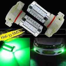 2X 33SMD Green H16 5202 PS24W 5201 LED Bulbs For Fog Truck Light Lamp