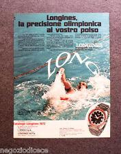 P323 - Advertising Pubblicità -1972- LONGINES , LA PRECISIONE OLIMPIONICA