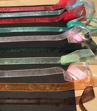 Bulk 16mm Crystal Organza Ribbon. Mixed Lot. 20 Metres In 1 To 3 Metre Lengths