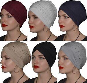 Turban Kopftuch Hijab Bone Khimar Chemomütze Kopfdeckung Strass Chomo Stirnband