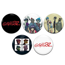 5x Gorillaz Band 25mm / 1 Inch D Pin Button Badges