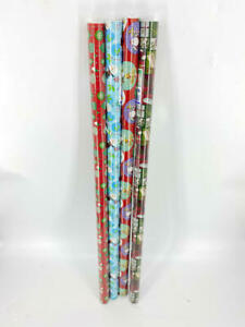 HOLLIDAY GIFTWRAP Christmas Wrapping Paper Bundle, (Pack of 4)