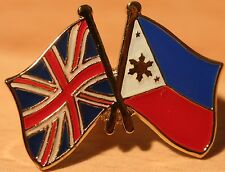 UK & PHILIPPINES FRIENDSHIP Flag Metal Lapel Pin Badge Great Britain