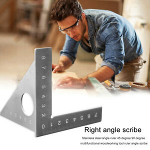 Multifunction Carpenter 45 90 Degree Gauge Angle Ruler Measure Woodworking Tool