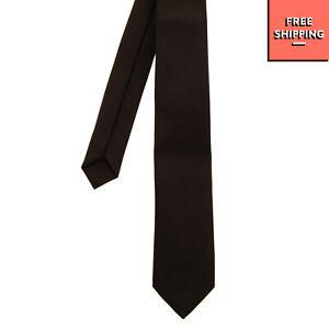 BIKKEMBERGS Necktie Black Short   Skinny   Fully Lined