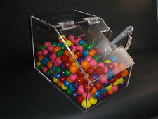 "Bulk food/ candy cereal nuts spices acrylic bin 8"" wide with scoop. 3/16 acrylic"