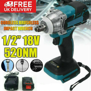"""1/2"""" Tool For MAKITA 18V Cordless Brushless Impact Wrench with Battery+Charger"""