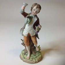 Andrea by Sadek Young Boy Holding Grapes Bisque Figurine 7161 8�