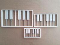 Clavier Piano Instrument Forme Coupe Biscuit Pâte Pâtisserie Fondant Tampon