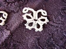 Antique Edwardian Cotton Hand Tatted Butterfly Lace Appliques