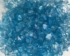 Miniature FAIRY GARDEN Terrarium ~ BLUE GLASS GEMS Crushed Decorative Chips