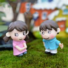 New listing Shy lovers Figurines Fairy Garden Gnome Moss Terrariums Resin Crafts Diy Decor