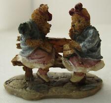 Boyds Town Village Justine & Melvin Lowenbruin Miniature Figurine Tbc 2000