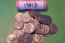 1981 D Washington Quarter Roll - 40 coins
