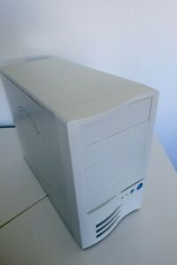 Beige PC Case - Retro micro ATX Tower w/ Power Supply - Vintage Computer Case