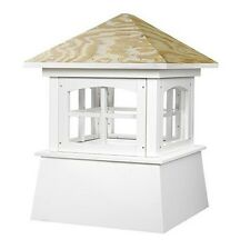 """2126Bv Brookfield Pvc Vinyl Cupola With Wood Roof- 26"""" Square X 32"""" High"""