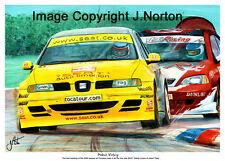 A3 Art Print-Jason PLATO-Seat Toledo Cupra-THRUXTON RACING 2004