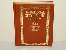 NATIONAL GEOGRAPHIC SOCIETY 100 YEARS OF ADVENTURE & DISCOVERY LEATHER BOUND BK