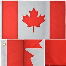 Canada 3' x 5' Ft Nylon Premium Outdoor Embroidered Canadian Maple Leaf Flag