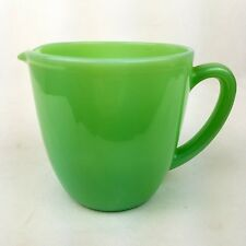 Vintage Fire King Jadeite Jadite Green Cup with Spout Handle Restaurant Mugs