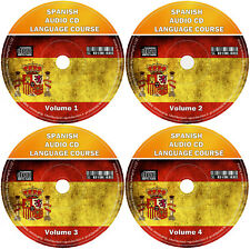 Spanish Language Course For Beginners Easy Learn By Listening 4 x Audio CD Set