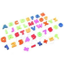 Teaching Magnetic Fridge Magnets Alphabet Set Of 42 Colorful Letters & Numbers