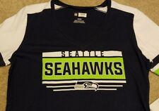 NEW Cute Seattle Seahawks NFL Football Shirt Blue Womens Medium M
