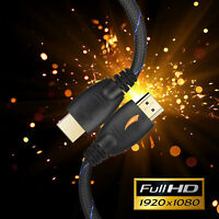 FHD 1080 @ 2160p Braided HDMI Cable -3FT 6FT 25FT 10FT 15 FT 30FT 50FT 66FT lot