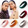 New Women's Girl Padded Velvet Headband Multicolor Hairband Hair Decor Gifts