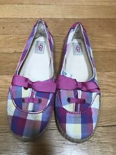 UGG NOELLA PINK PLAID ESPADRILLES YOUTH GIRLS Size 3