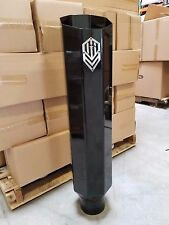 """OFFROAD ARSENAL 5/"""" INLET 8/"""" OUTLET 36/"""" OCTAGON EXHAUST STACK MATTE BLACK CAT LF"""