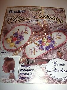 """BUCILLA """"SPRING BOUQUET"""" RIBBON EMBROIDERY KIT"""