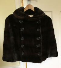 MICHAEL KORS Real Mink Fur Jacket Bolero Coat Stole Cape Size S EUC