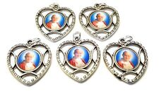 5 AUTHENTIC RELIC MEDALs of Saint Pope John Paul II JP PENDANT heart shaped