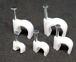 👍 Kabelschellen SET (Nagelschellen) 4mm, 6mm, 8mm, 10mm 12mm, 50 o. 100 Stück