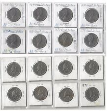 Great Britain 10 New Pence, 1968, 1969 1970, 1971, 1975 1976, 1979 LOT OF 8