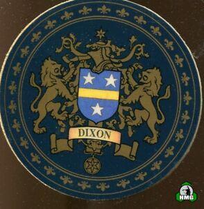 English Heraldic Coaster: Dixon