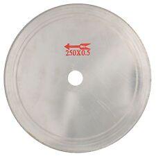 "10"" 250mm Ultra-thin diamond lapidary Cutting saw blade Disc Rim 0.6mm Jewelry"