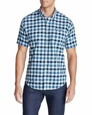 EDDIE BAUER MEN'S BAINBRIDGE 2.0 SHORT-SLEEVE SEERSUCKER SHIRT - Small