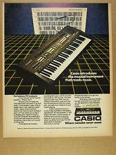 1982 Casio Casiotone 701 Keyboard Synthesizer color photo vintage print Ad