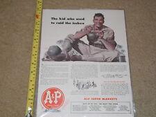 MAGAZINE AD ADVERTISMENT A & P MILITARY WAR PRINT SUPER MARKET